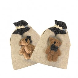 Raffia Pouches with dolls Small