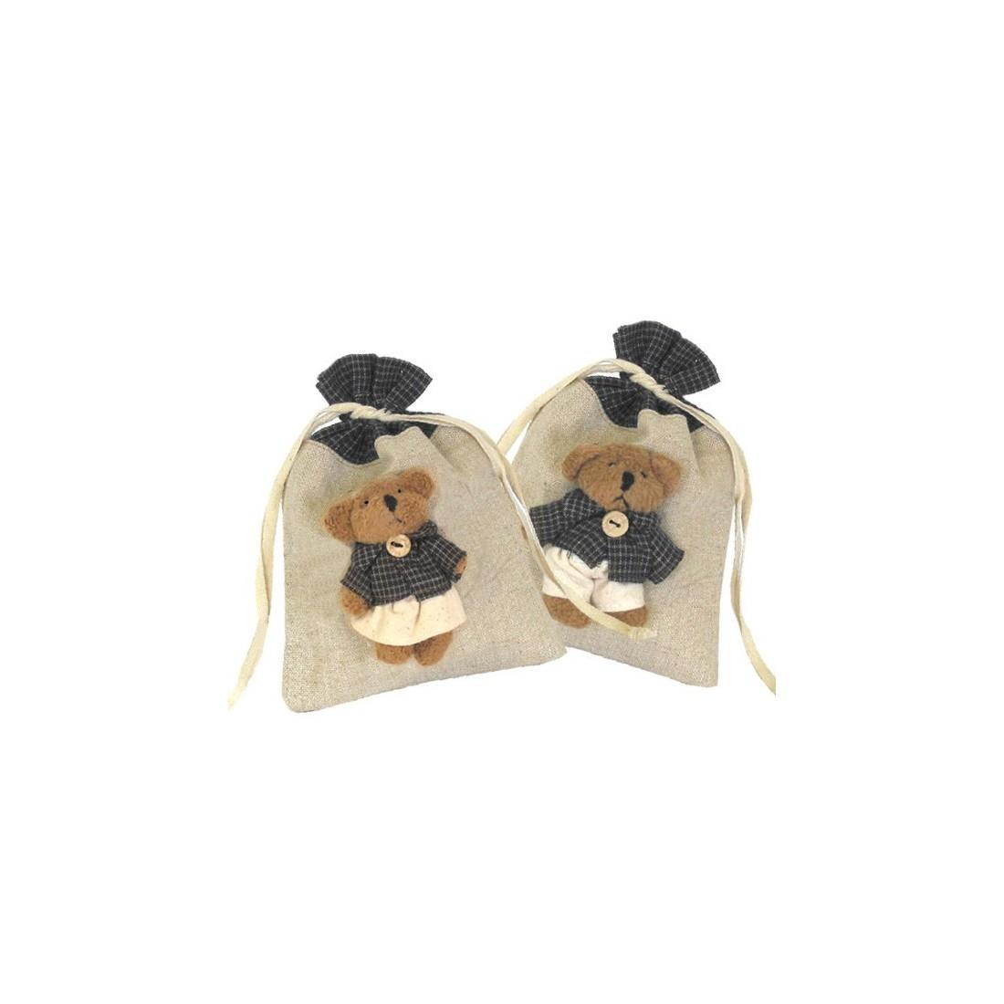 Raffia Pouches with dolls Medium