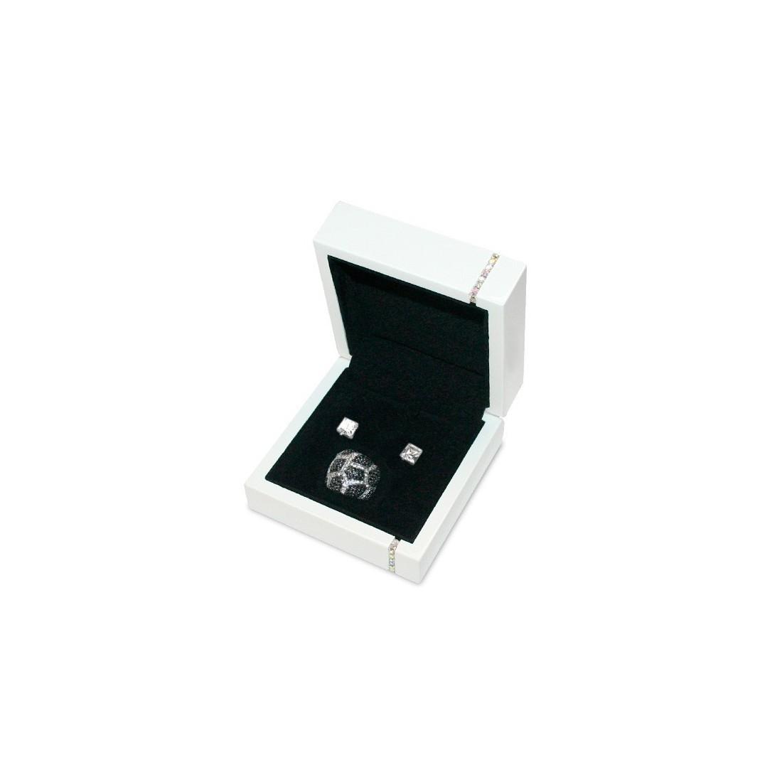 Diamonds Jewellery Box, Earrings and Necklace