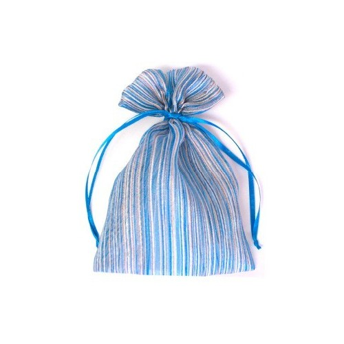 Organza Striped Pouch - Big