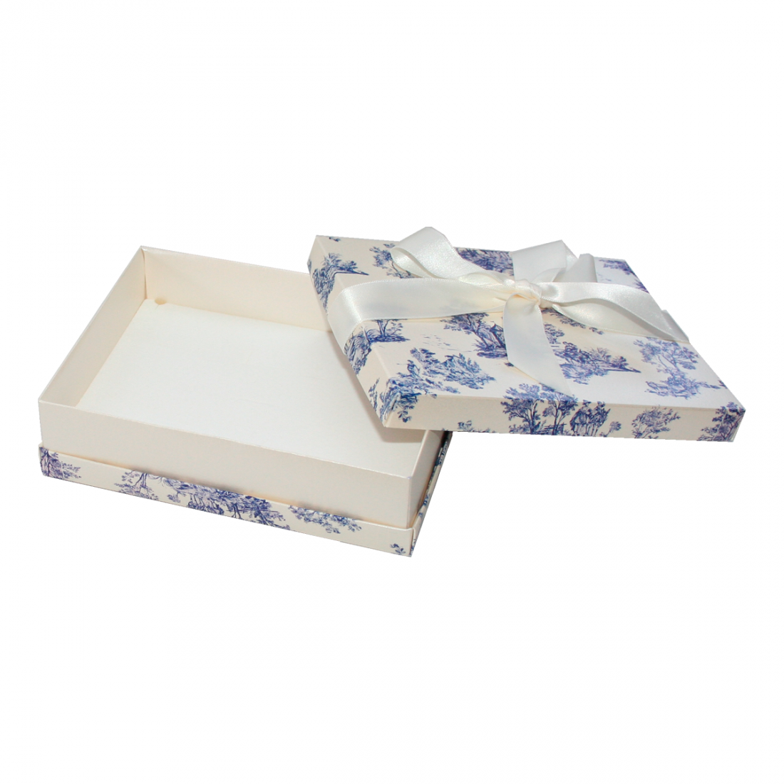 cardboard necklace box, vintage print