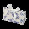 Bolsa de cartón con estampado vintage, toile de jouy