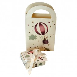 Kit Caja + Bolsa (Conejito globo rosa)