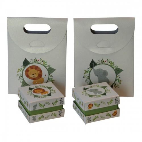 Kit Caja + Bolsa (Baby Zoo)