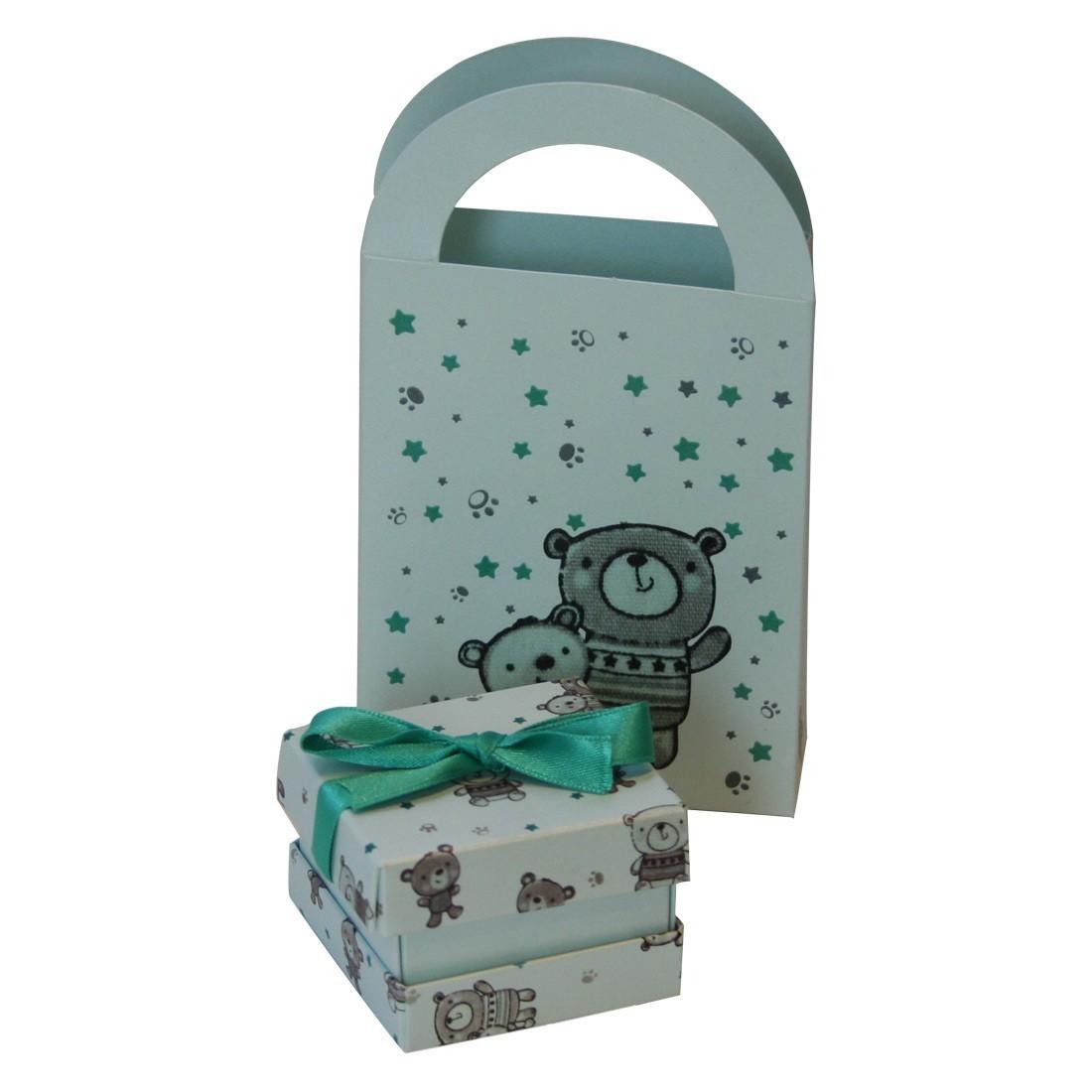 Kit Caja + Bolsa (Love Bear)