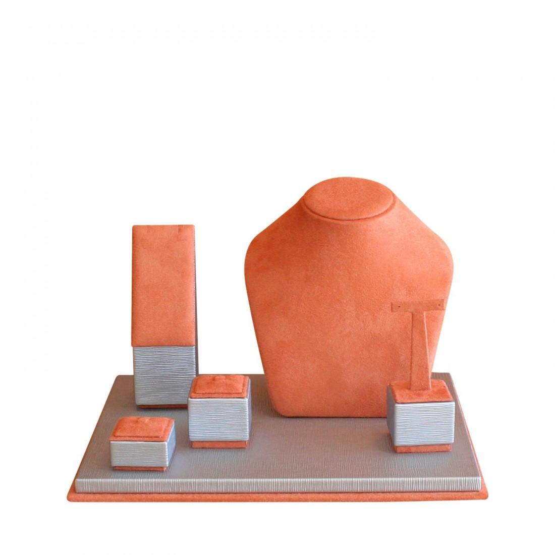 Jewelry display set, Mini Corner orange