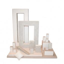 Jewelry display set, square cream