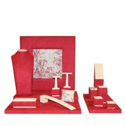 Jewelry display set Venezia, Red