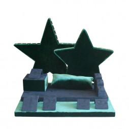 Jewelry display set, Star velvet