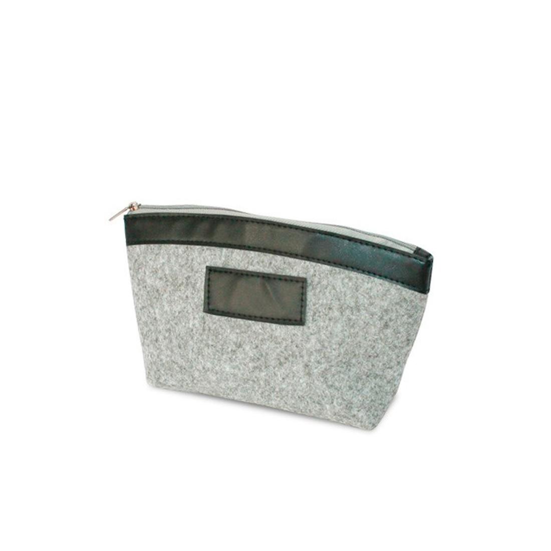 Gray felt pouch