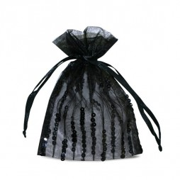 Chic organza pouch, with sequins