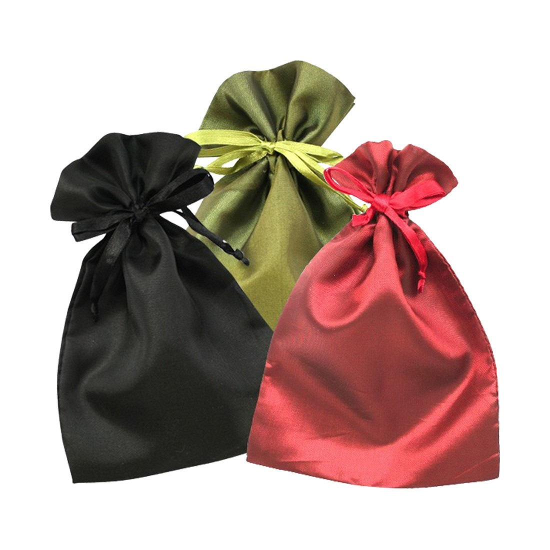 Satin pouches for jewels and costume jewelry