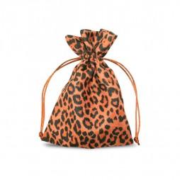 Suede Leopard print pouch