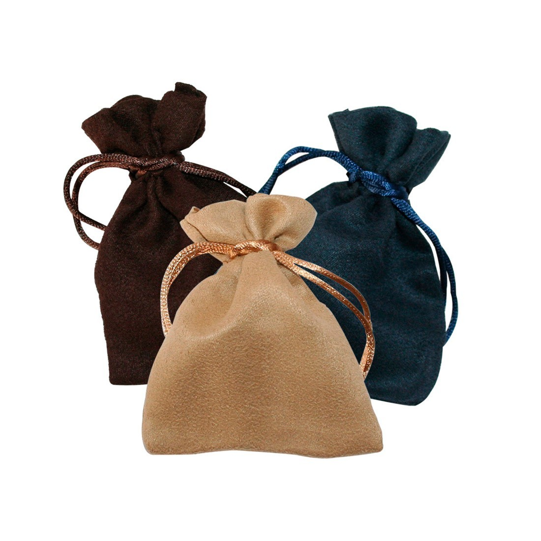 Suede pouch for jewels and custom jewelry