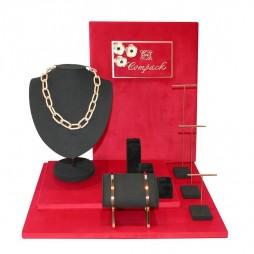 Velvet jewelry display