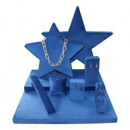 Stars Jewelry display set in blue velvet