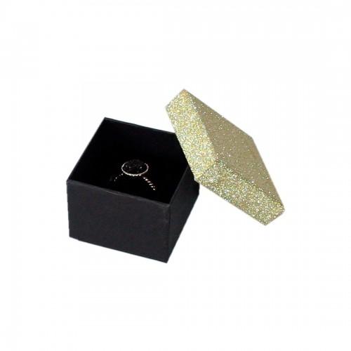 Cardboard Ring box Glitter, Compack