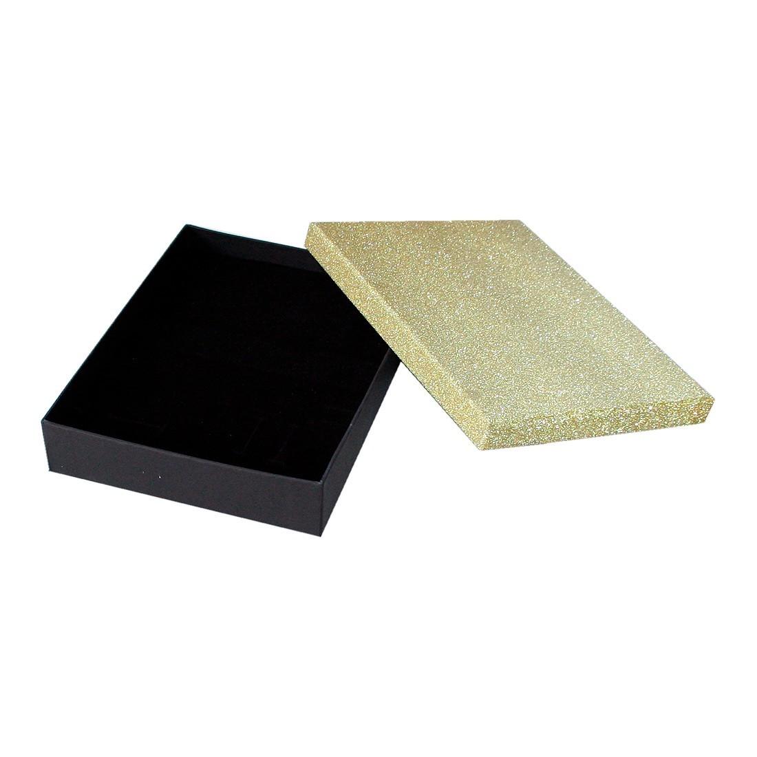 Caja de cartón con purpurina para collar, Compack
