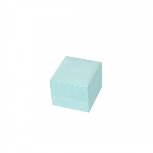 Multipurpose jewellery box suede aquamarina