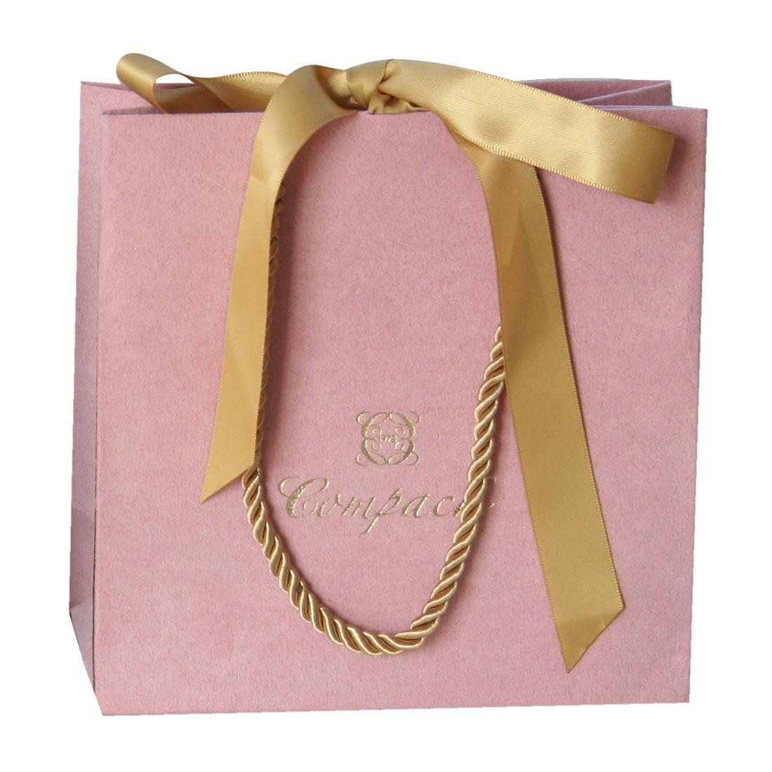 Bolsa terciopelo para joyería, rosa