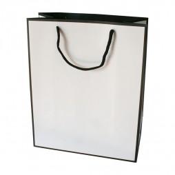 Bolsa de papel para joyería en blanco y negro