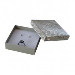 Cardboard Ring and earrings box Shine, Compack