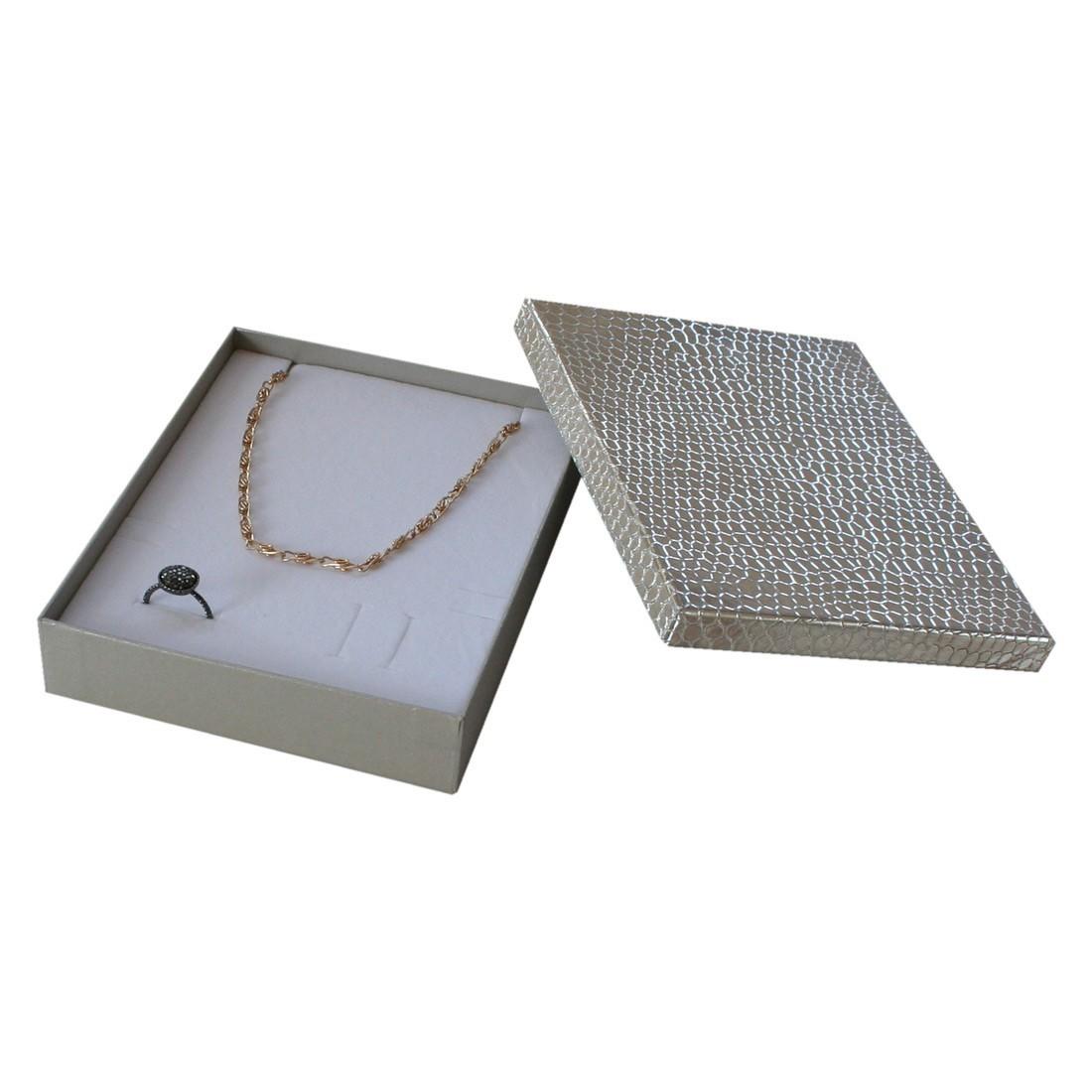 Caja para juego de collar y anillo, Shine, Compack