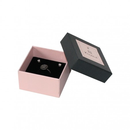 Cardboard Ring and earring box. Radiant Compack