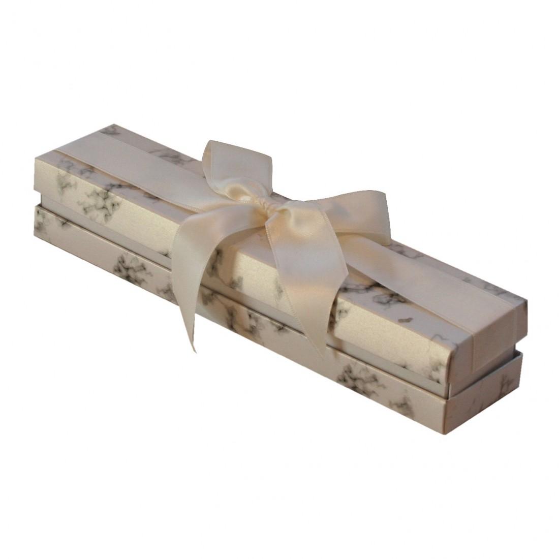 Caja de cartón para pulsera, Florencia Mármol blanca