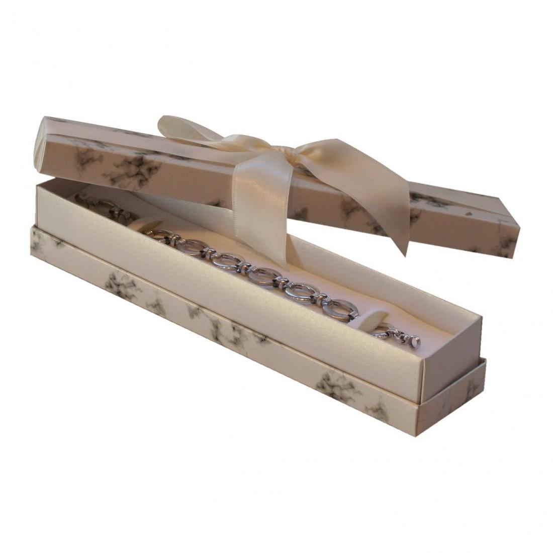 Jewellery box for bracelet, Florencia white marble