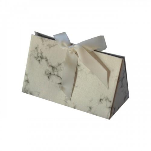 Bolsa de cartón con estampado de mármol, para joyería