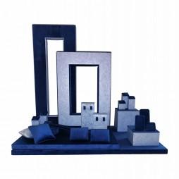 Jewelry display set, Square blue