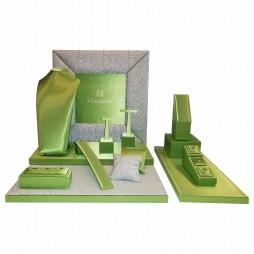 Jewellery display set, Venecia Satin Green