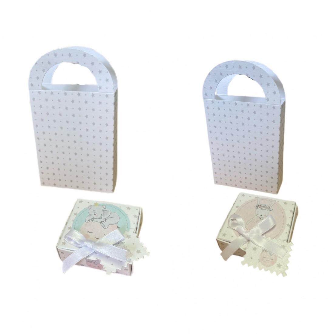 Kit Box + Bag Elephant and Rabbit