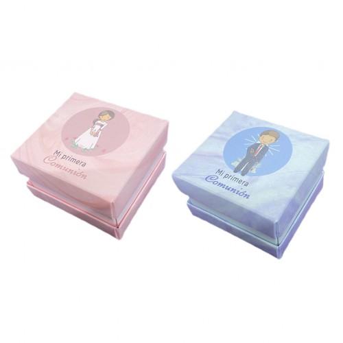 Children's Communion Box Boy & Girl  Fringe - Small
