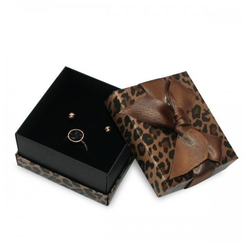 Phyton Printed Florencia Jewellery Box, Earrings and Neclace