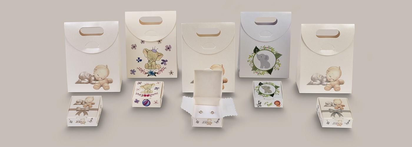 Conjunto de packaging infantil para joyas