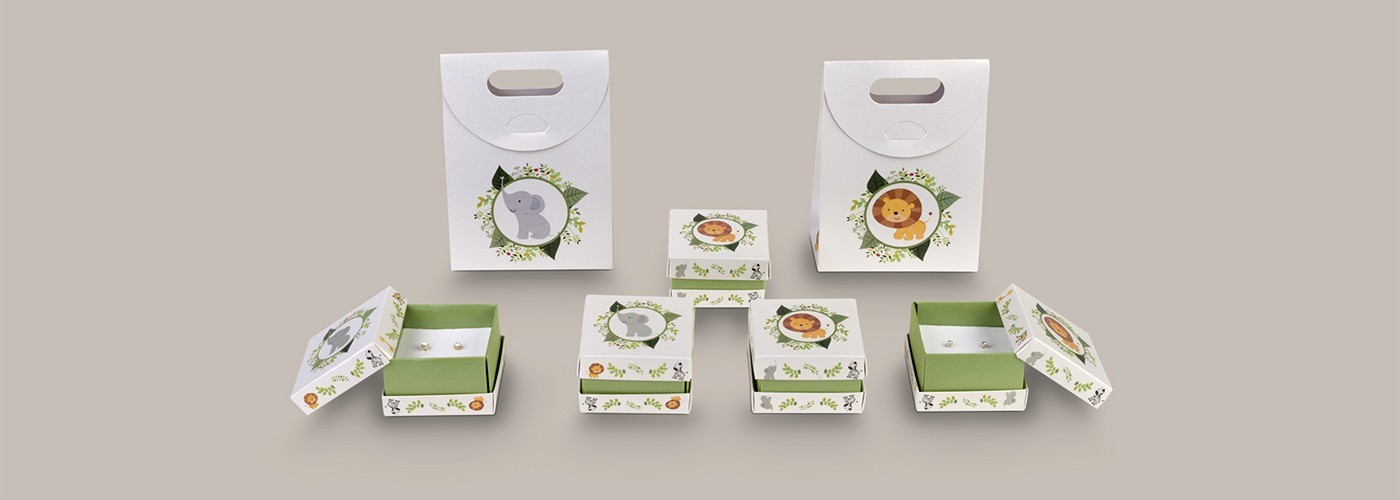 Packaging sets for children's jewellery