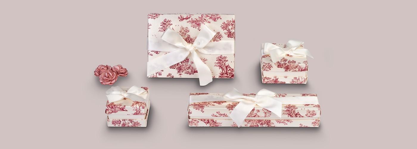 Cajas de cartón para joyería. Florencia Barroco