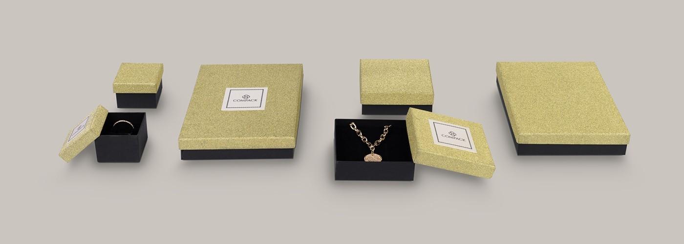 Comprar cajas de cartón de joyería ★ Glitter Metallic