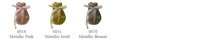 0014 Metallic Pink, 0051 Metallic Gold, 0070 Metallic Bronze