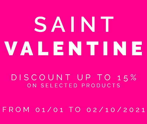 Saint Valentine - Discount up to 15% on selected products