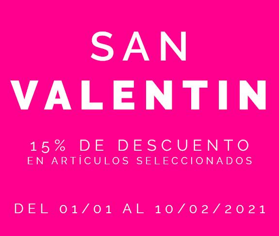 San Valentín - 15% descuento en productos seleccionados