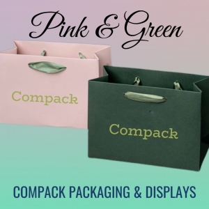 Pink& Green are perfect colors for packaging. What color would you prefer? . . #compackpackaging #compackpaperbags #compackbolsasjoyeria #jewelrypackaging #jewelrypaperbags #bolsaspapeljoyeria