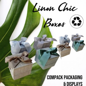 Linen Chic collection manufactured with Linen 100% natural. Special  collection for those who loves nature. . . #compackpackaging #ecopackaging #linenjewelryboxes #estuchesjoyeria #etuiboxes #astuccigioelli