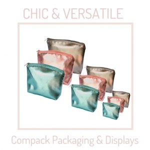 This Chic&versatile pouches are ready for any event that you have. . #compackpackaging  #compackpouches #compackbolsas #compackpochette #bolsasjoyeria #jeqeleypouchs