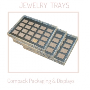 Jewelry trays customized with the costumer textile. . . #compacktrays #compackbandejasjoyería #compackjewelrytrays #plateaubijoux #bandejasjoyeria #jewelrytrays