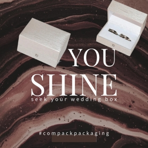 Seek your wedding ring box. It is time to celebrate any event with a dreamy packaging. . . #compackpackaging #compackboxes #compackestuches #weddingringbox #estuchesalianzas