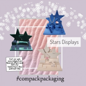 Star displays manufactured in velvet and sued e it will  enhance all your jewelry. . . #compackdisplays #jewelrydisplays #escaparatesjoyeria #vitrinegioelli #velvetboxes #vitrinbijoux