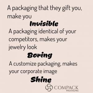 Un packaging que te regalan con las joyas que compras te hace INVISIBLE. Un packaging idéntico que el@de tu competencia ABURRE. Un packaging a medida  de la imagen de tu empresa, hace que tus piezas de joyería sean únicas y BRILLEN. . . #compackpackaging